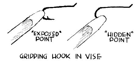 Gripping hook in vise
